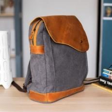 """Текстильный рюкзак """"Финикс"""" серый фото-2"""