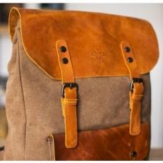 """Текстильный рюкзак """"Грог 16"""" хаки фото-2"""