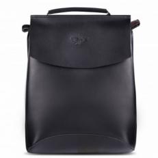 """Кожаный рюкзак """"Мокко-10"""" черный"""