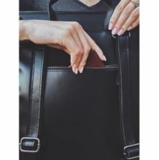 """Кожаный рюкзак """"Мокко-13"""" черный фото-2"""