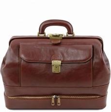 GIOTTO - Кожаная сумка доктора с двойным дном
