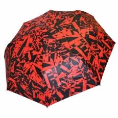 Зонт с черно-красным принтом GR1-1-3