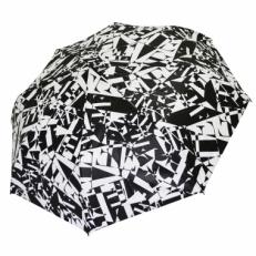 Зонт с черно-белым принтом GR1-1-4
