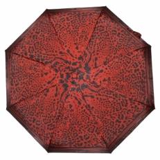 Зонт с черно-красным леопардовым принтом GR1-09