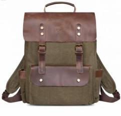 """Городской рюкзак """"Грог 15"""" с карманами зеленый"""