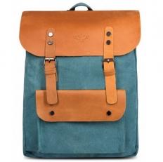"""Текстильный рюкзак """"Грог 16"""" голубой"""
