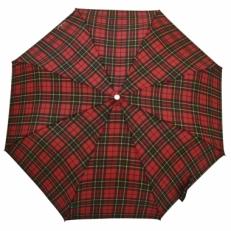 Облегченный зонт H.204-2 красный в клетку