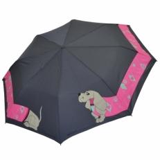 """Женский зонт H.241-2 """"Такса"""" серый"""