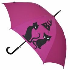 """Зонт-трость H.415-1 """"Кошки"""" розовый"""
