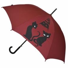 """Зонт-трость H.415-2 """"Кошки"""" бордовый"""