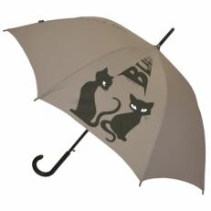 """Зонт-трость H.415-5 """"Кошки"""" серый"""