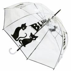 """Зонт-трость прозрачный H.431 """"Кошка"""""""