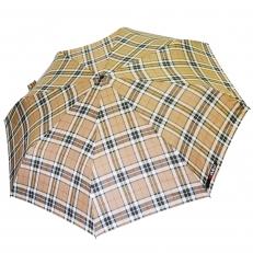 Зонт мужской H.605-1 бежевый в клетку