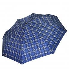 Зонт мужской H.605-6 синий в клетку