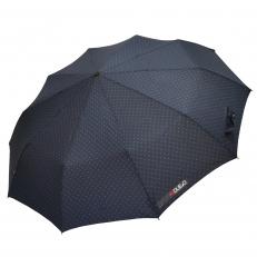 Зонт складной H.621-1 синий в горошек