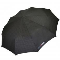 Зонт складной H.621-2 черный в горошек