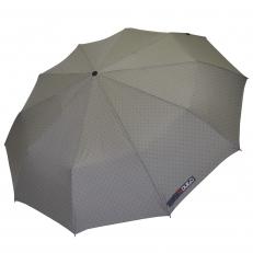 Зонт складной H.621-4 серый в горошек