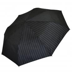 Зонт мужской черный в полоску