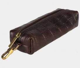 Ключница кожаная K-117 коричневая