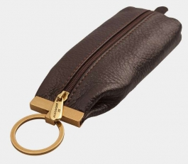 Кожаная ключница K-093 коричневая