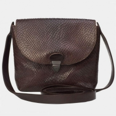 Женская сумочка KB001 коричневый питон