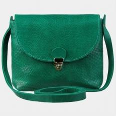 Женская сумочка KB001 зеленый питон
