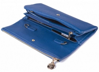 Кожаный клатч 9592 N.Polo Bright Blue фото-2