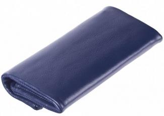 Кожаный клатч 9592 N.Polo D.Blue фото-2
