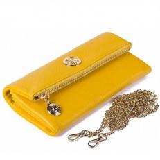 Кожаный клатч 9592 N.Polo Yellow