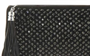 Клатч с замшей с камнями 8081-1 фото-2