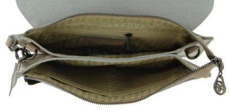 Клатч кожаный бежевый 6707-5 фото-2
