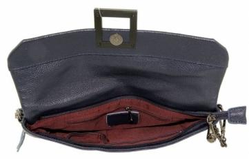 Клатч кожаный на цепочке женский 576-18 фото-2