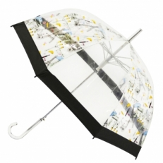 "Прозрачный зонт-трость ""Круасан"""