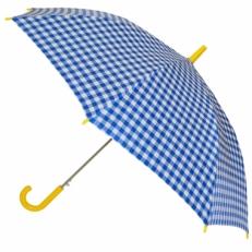 """Детский зонт Ame Yoke """"Клетка"""" голубой"""