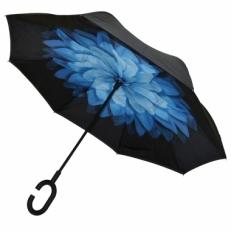"Зонт наоборот ""Голубая хризантема"""