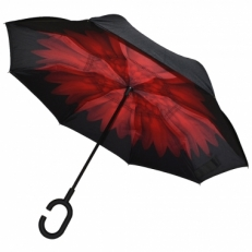 "Зонт наоборот ""Красная хризантема"""