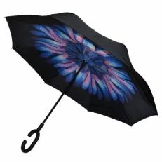 """Зонт наоборот """"Синяя хризантема"""""""