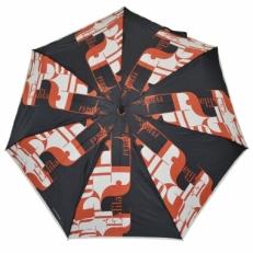 Зонт мини Ferre LA5005 черно-красный