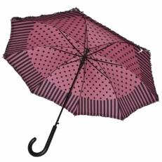 Зонт-трость Ferre LA5006 розово-черный фото-2