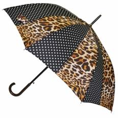 Зонт трость с леопардовым принтом LA6008