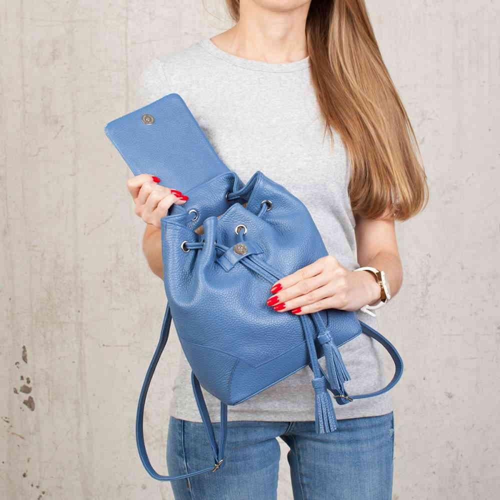 Маленький рюкзак на шнурке Clare Blue фото-2