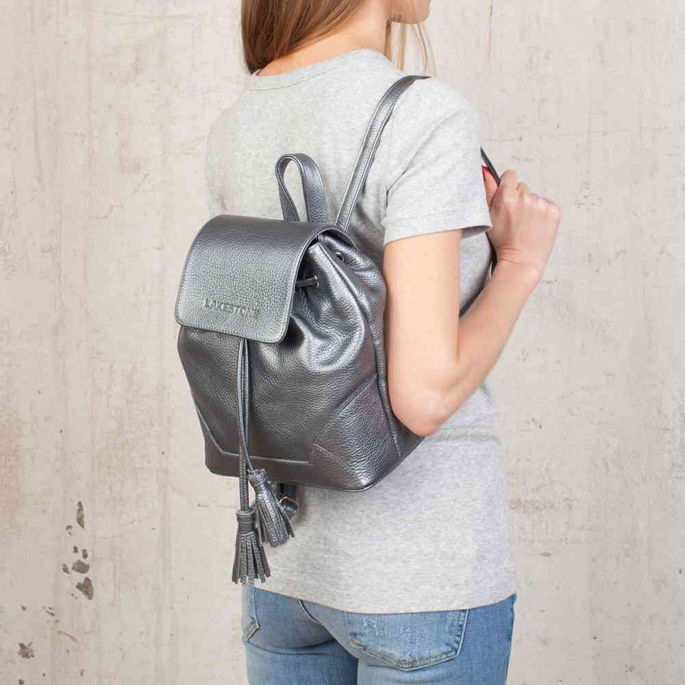 Небольшой рюкзак Clare Silver Grey фото-2