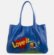 Сумка женская «LOVE IS» синяя