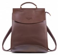 """Кожаный рюкзак """"Мокко-10"""" кофе"""