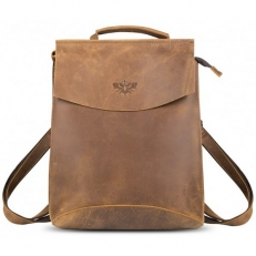 """Кожаный рюкзак """"Мокко-10"""" коричневый"""