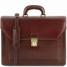 Napoli - Классический кожаный портфель на 2 отделения