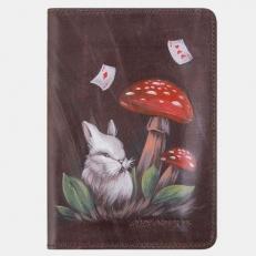Обложка для паспорта «Алиса грибы»