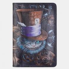 Обложка для паспорта «Чешир в шляпе»