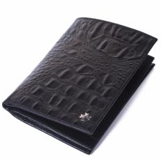 Кожаный бумажник Vasheron 9672 Bambino Black