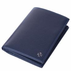 Кожаный бумажник Vasheron 9672 Polo Blue
